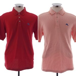 Tommy Bahama L Red Orange Short Sleeve Two Polos